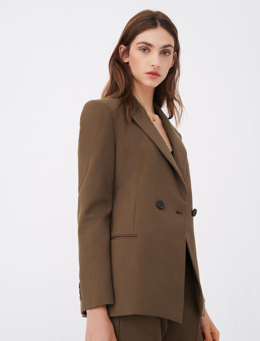 Fitted suit jacket : Coats & Jackets color Brown
