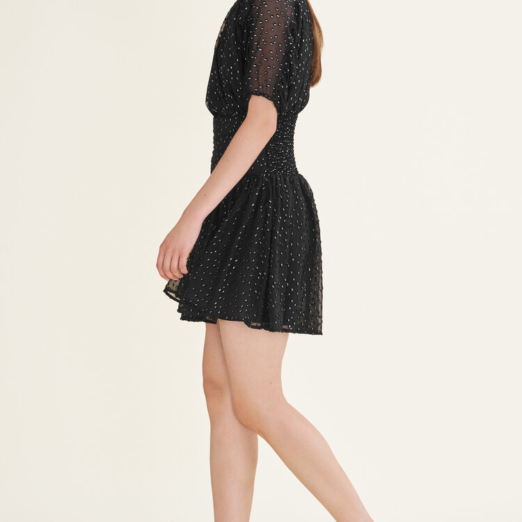 Flocked dress : null color