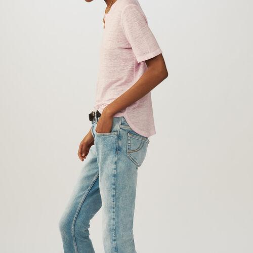 Linen t-shirt : Tops & T-Shirts color LILAS
