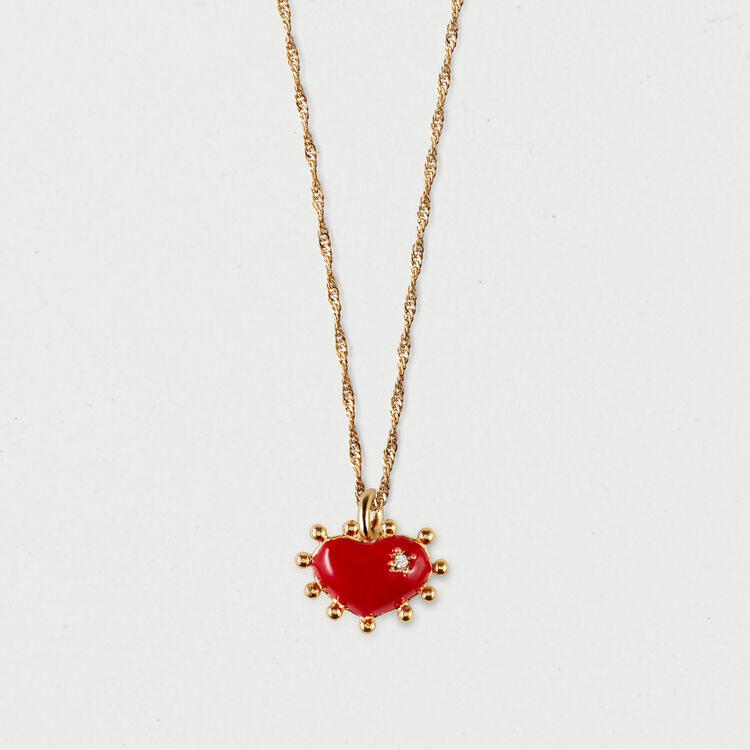 Heart necklace : Shoes & Accessories color GOLD