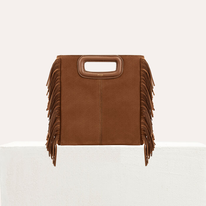 M bag with suede fringes : M Bags color Camel