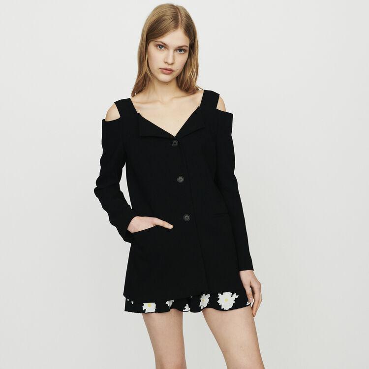 Cold-shoulder jacket : Coats & Jackets color Black 210