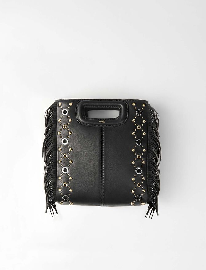 Leather M bag with eyelets -  - MAJE