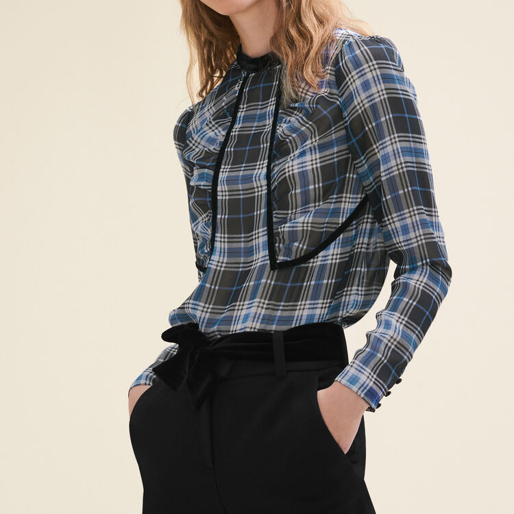 Floaty checked blouse : Tops & T-Shirts color PRINTED