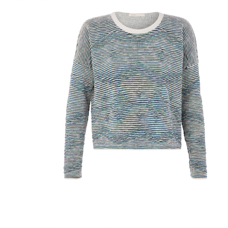 Jacquard reversible sweater : Features color