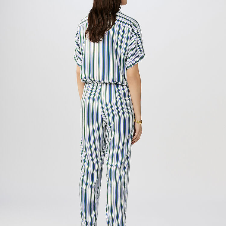Striped jacquard jumpsuit : Pants & Jeans color Stripe