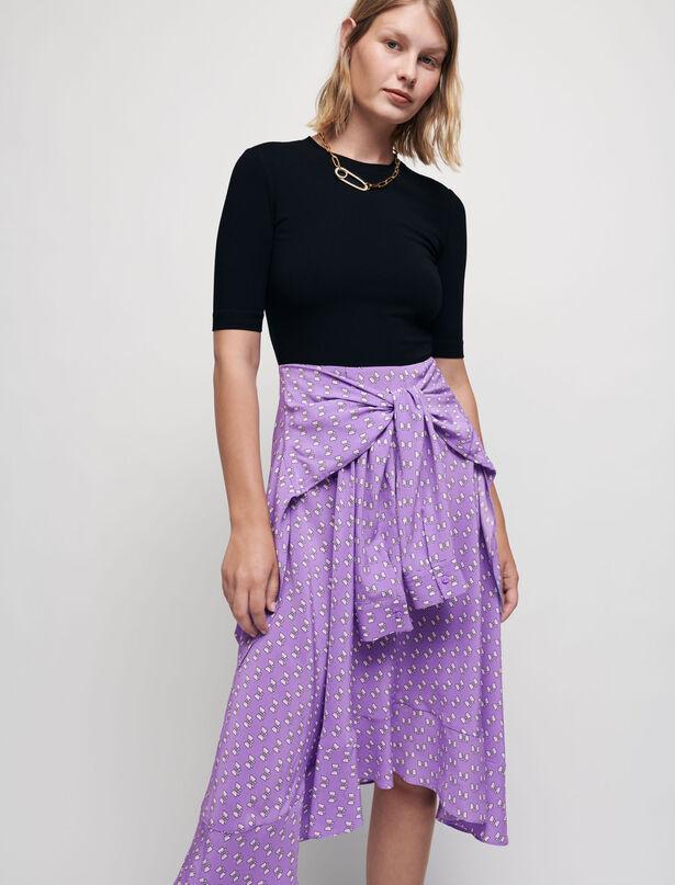 Maje Trompe l'oeil dress with bow print