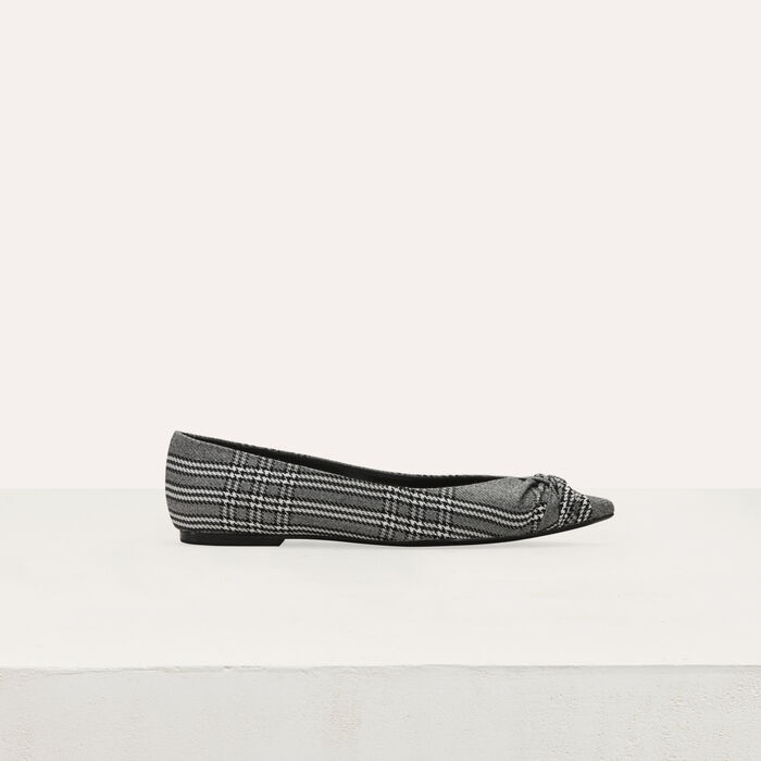 Flat pumps in Prince of Wales plaid : Shoes & Accessories color CARREAUX