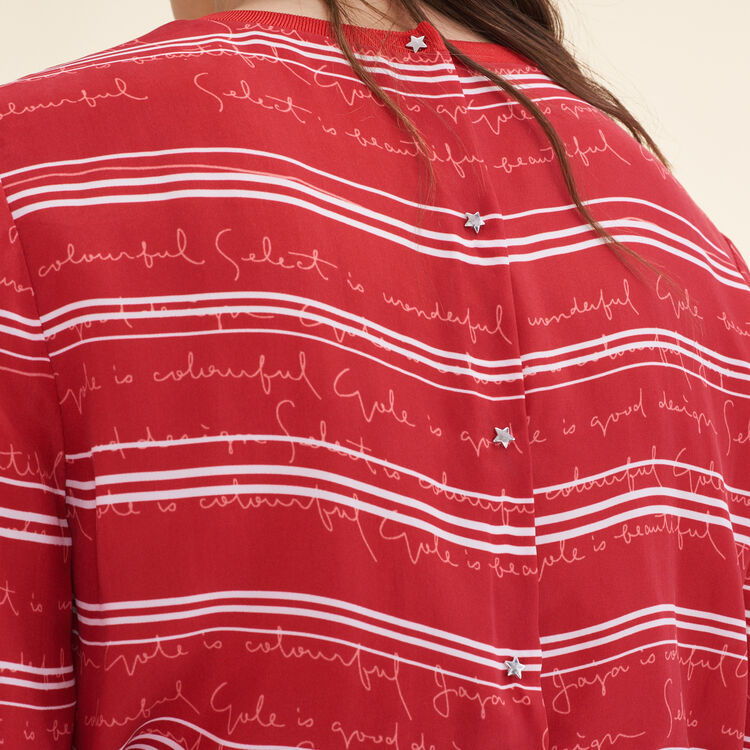 Floaty top with printed lettering : Tops & Shirts color Print