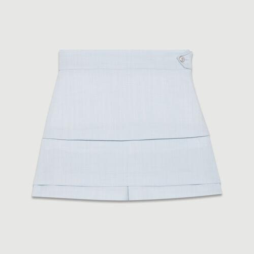 Trompe-l'oeil shorts : Skirts & Shorts color Blue Sky