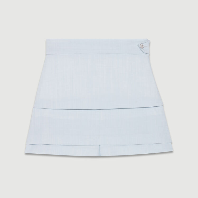 Trompe-l'oeil shorts : Skirts & Shorts color Blue Sky