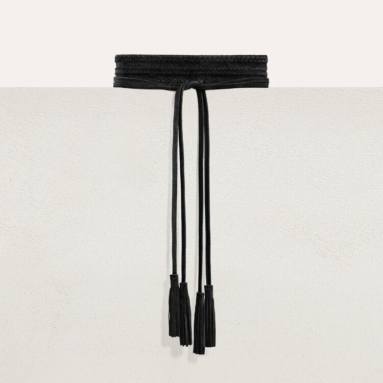Wide suede belt : Belts color Black 210