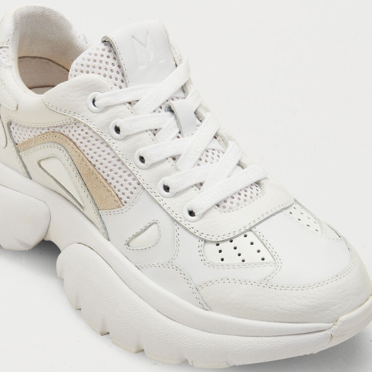 W20 Urban leather sneakers : The Spring Essentials color White
