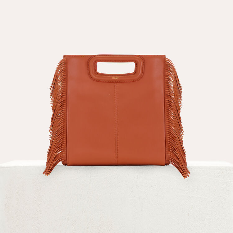 M bag with fringes : M Bags color Terracota