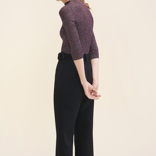 Lurex knit fitted jumper - Sweaters - MAJE