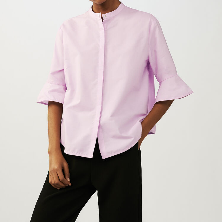Oversized poplin shirt : Tops & Shirts color Pink