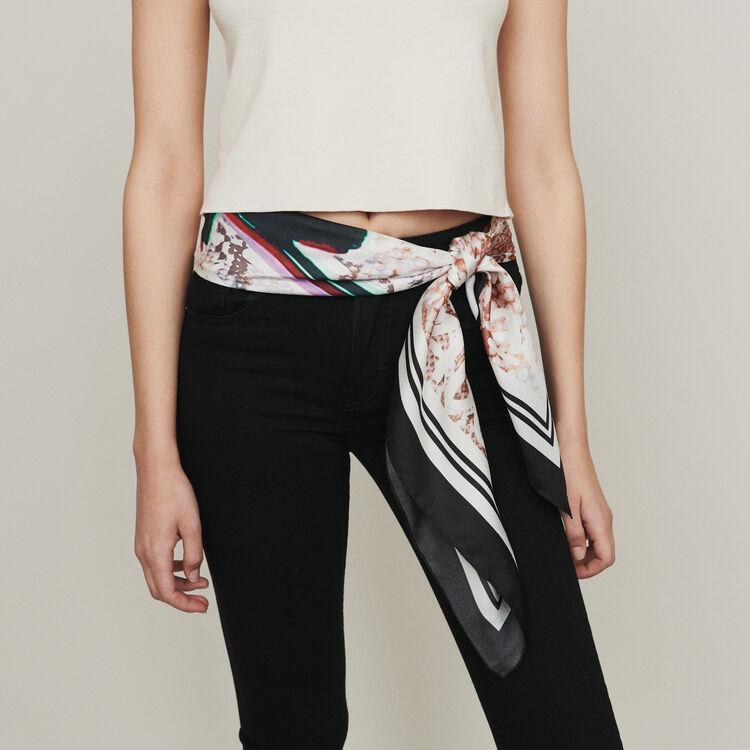 Oversize silk square scarf : Scarves & Ponchos color Multico