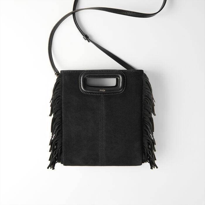 Suede M bag : M Bags color Black