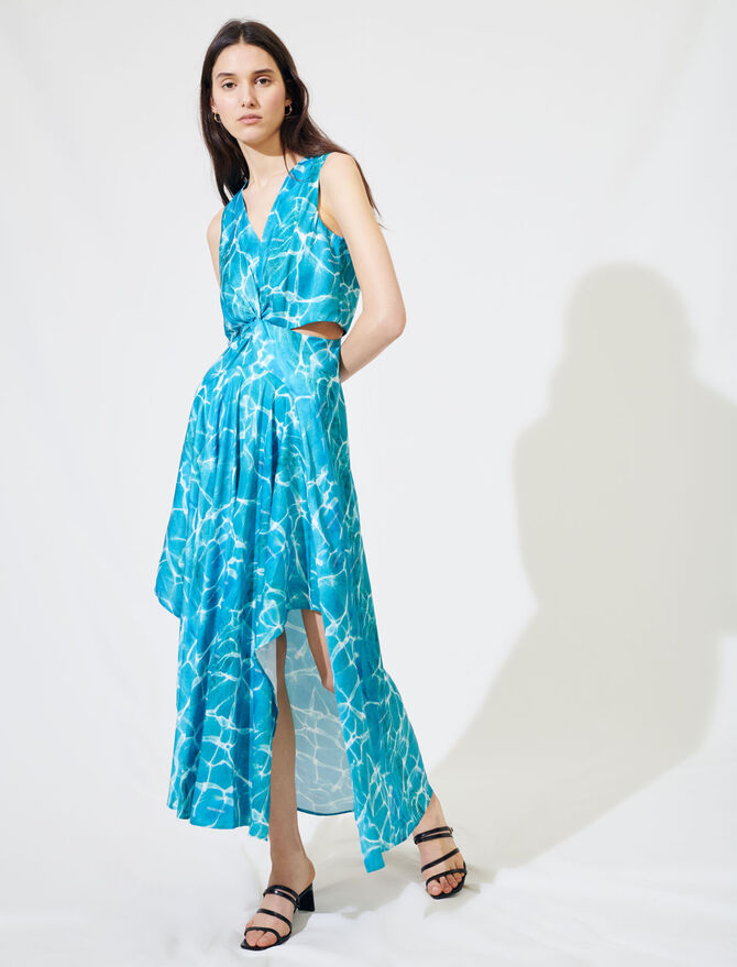 Satin scarf dress - Dresses - MAJE
