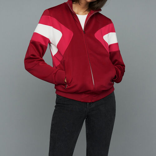 Track jacket : Coats & Jackets color Raspberry