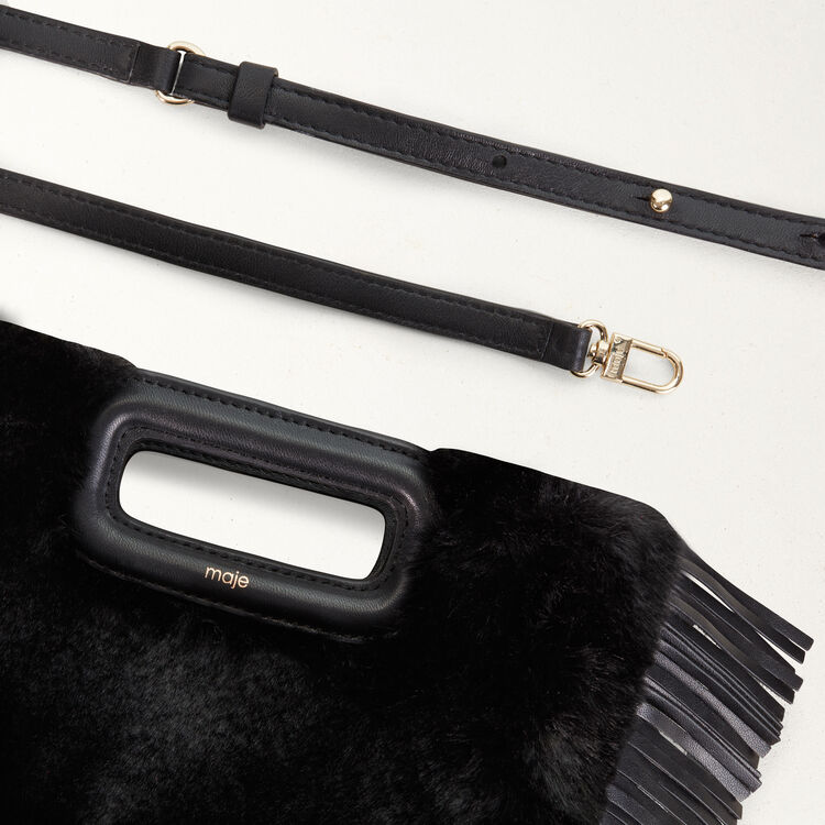 M bag in novelty fur : Bags color Black 210