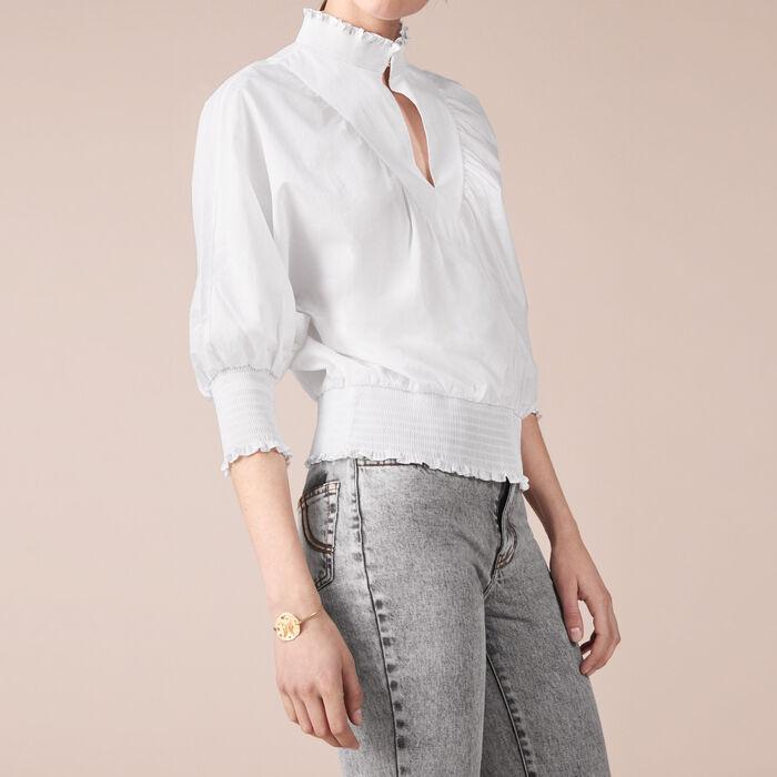Cotton blouse : Tops & T-Shirts color Ecru