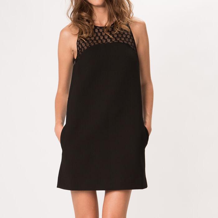 Straight crepe dress : Copy of Sale color