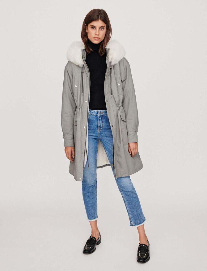 Oversized lined parka with hood - Coats & Jackets - MAJE