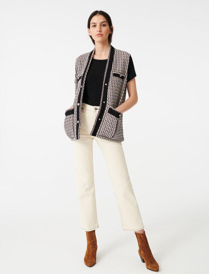 Sleeveless lurex tweed-style jacket - Coats & Jackets - MAJE