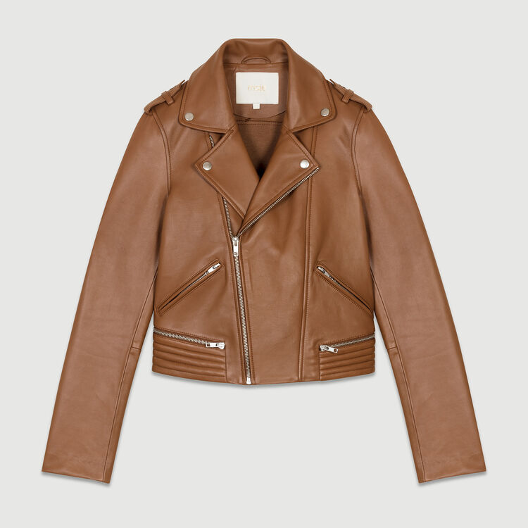 Perfecto leather jacket : Coats & Jackets color Camel