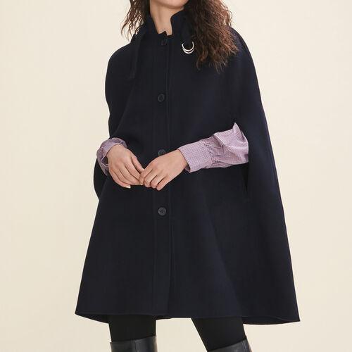 Double-sided wool cape - Coats & Jackets - MAJE