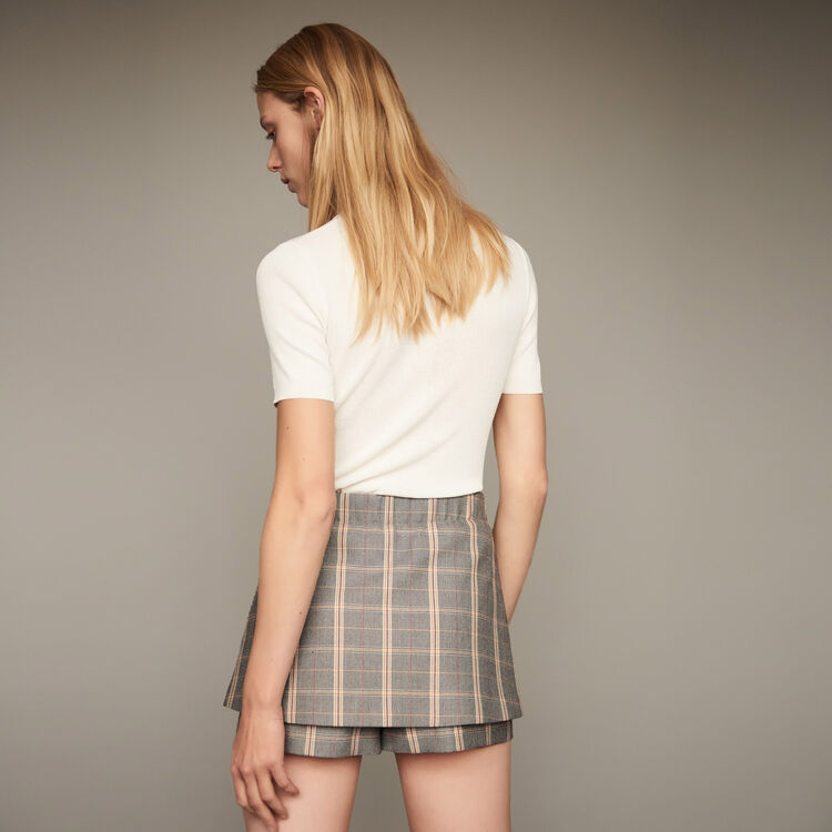 Checkered shorts : Skirts & Shorts color CARREAUX