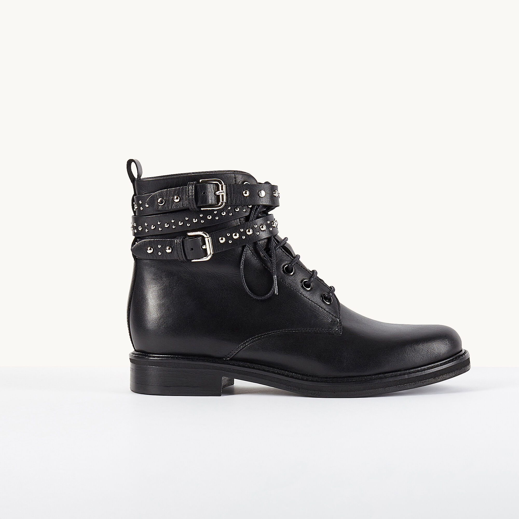 Maje Leather Ankle Boots clearance store online 0mQTIu