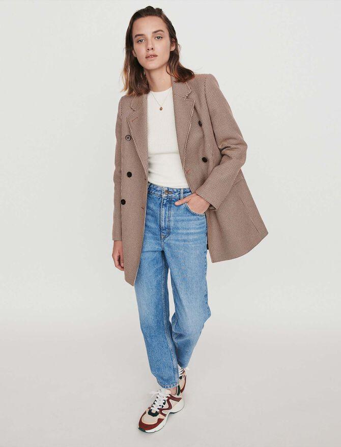 Plaid jacket-like coat -  - MAJE