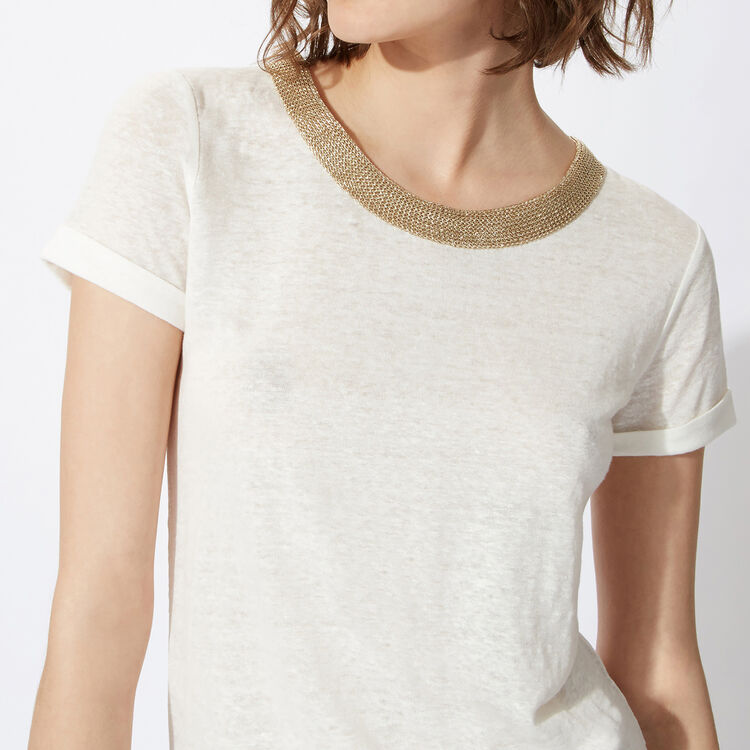 Linen top with jewellery details : Copy of Sale color