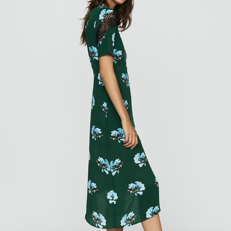 84afd340de Asymmetric printed dress with lace