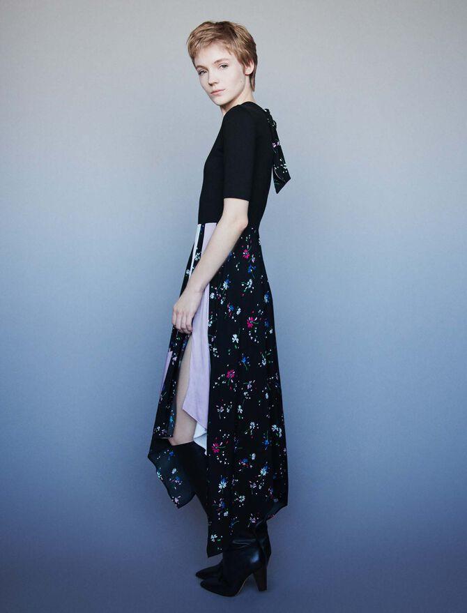 119rilila Mixed Print Layered Dress Dresses Maje Com