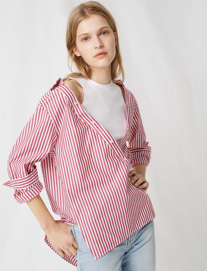 Trompe o'leil top with layered shirt - Tops & Shirts - MAJE