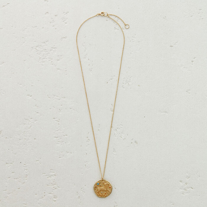 Aries zodiac sign necklace : New Collection color GOLD