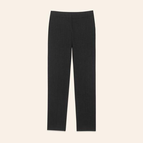 Straight-cut crêpe trousers - Pants & Jeans - MAJE