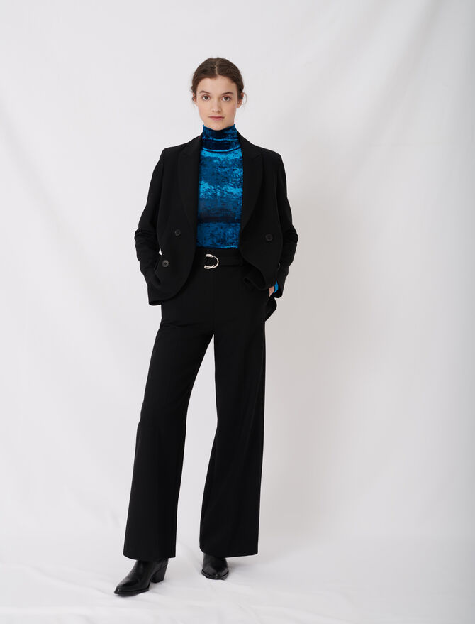 Wide leg pants with belt - The Essentials - MAJE