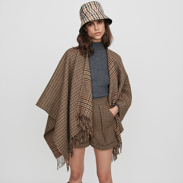 Whool-blend poncho : Scarves & Ponchos color Multico