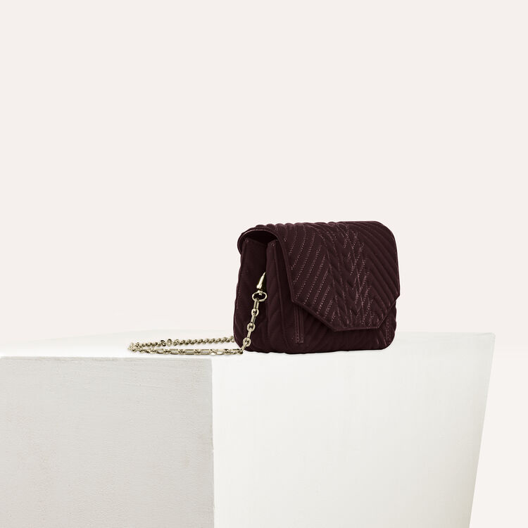 Quilted velvet evening bag : All bags color BORDEAUX
