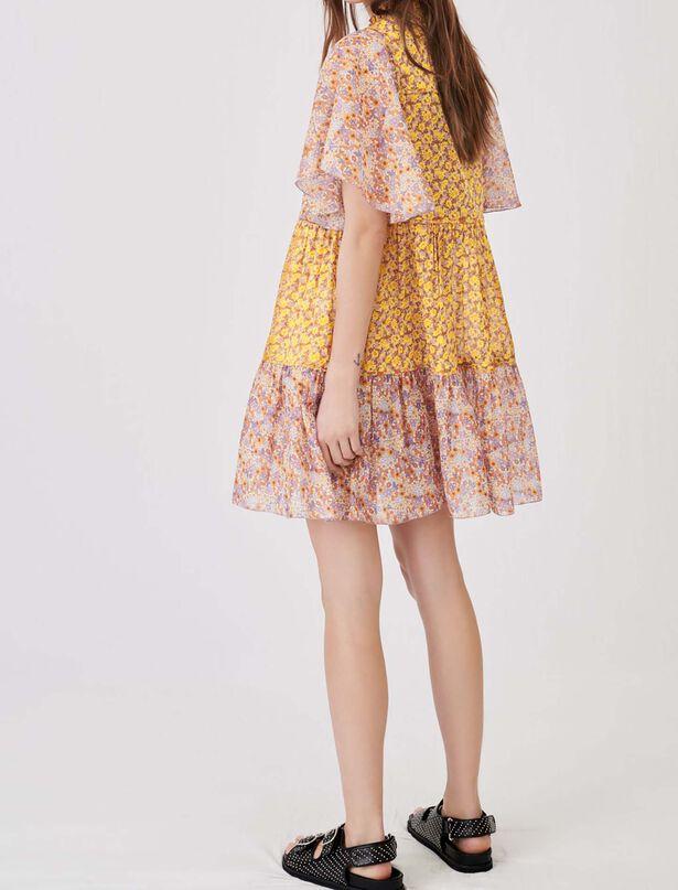 Maje Floral cotton voile dress
