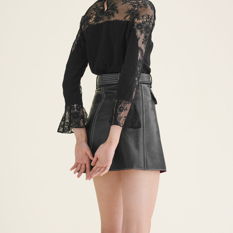 Floaty lace top : Tops & Shirts color Black 210