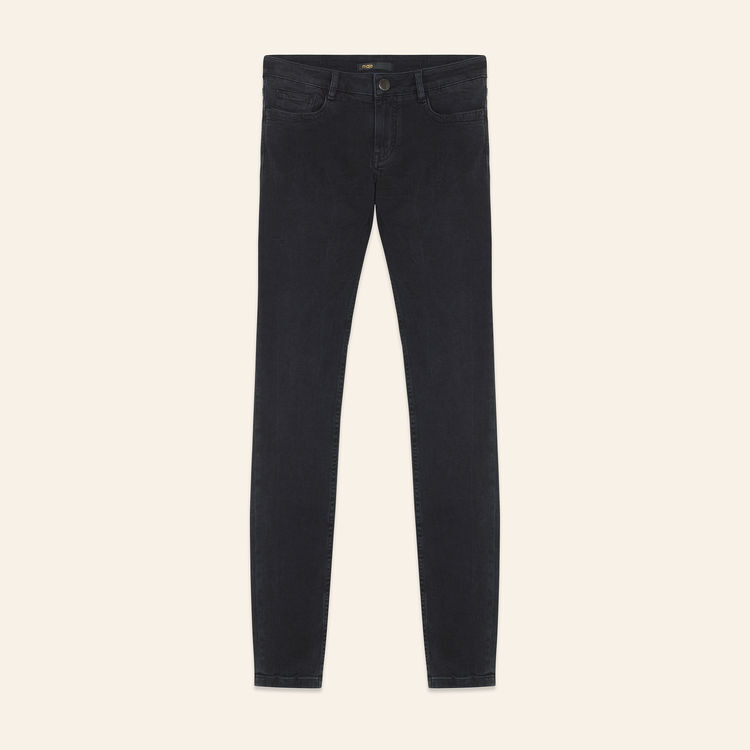 Skinny stretch cotton jeans : New Collection color Anthracite