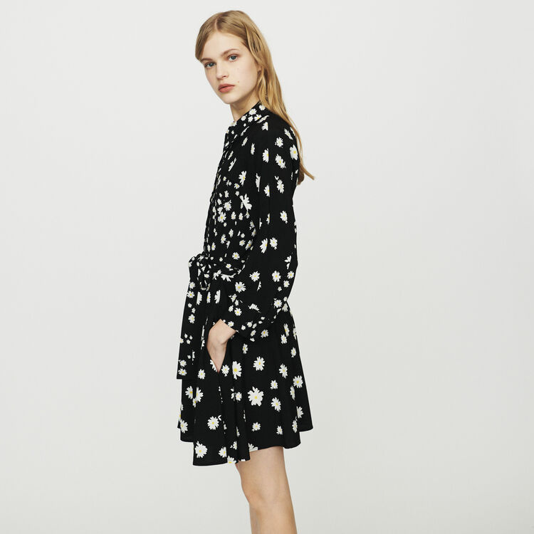 1a95eb6213c RAFI Dress with mixed daisy print - Dresses - Maje.com