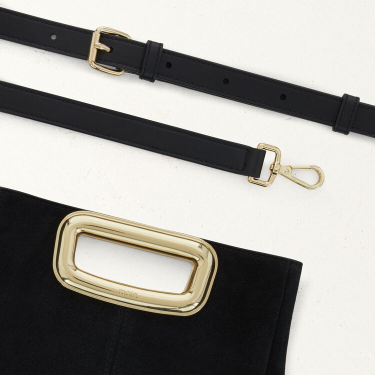 M Skin bag in suede : The Essentials color Black 210