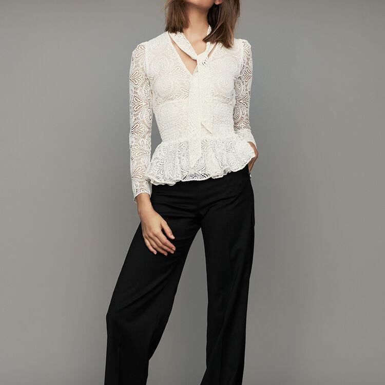 Wide pleated pants : Pants & Jeans color Black 210