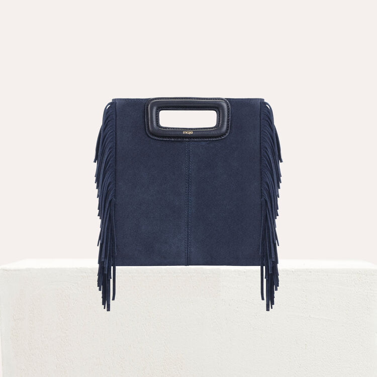 M bag with suede fringes : The Essentials color Camel